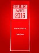 Кращий ECN-брокер 2016 року за версією журналу European CEO
