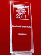 Кращий рітейл-брокер за версією European CEO Awards 2011